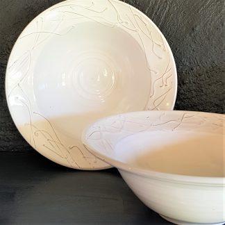 skål vit